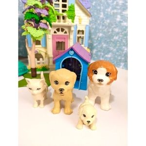 Barbie Doggy Daycare Pets/ Polly Pocket Playhouse